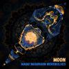 "Magic Mushroom Werewolves Psychedelic UV-Reactive Canopy - Petal Design - ""Moon"""