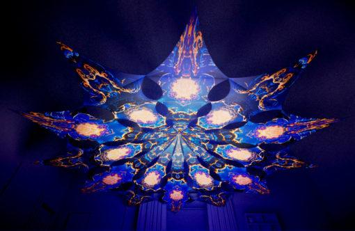 Magic Mushroom Werewolves Psychedelic UV-Reactive Canopy - 12 petals set - Jaws&Moon