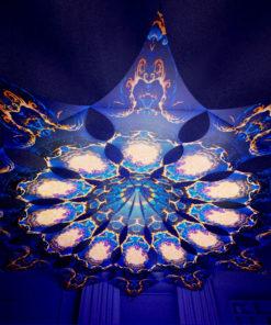 Magic Mushroom Werewolves Psychedelic UV-Reactive Canopy - 12 petals set - Moon