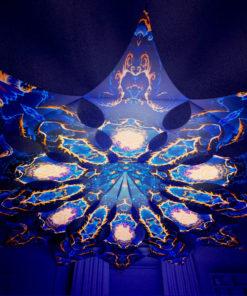 Magic Mushroom Werewolves Psychedelic UV-Reactive Canopy - 12 petals set - Moon&Forest