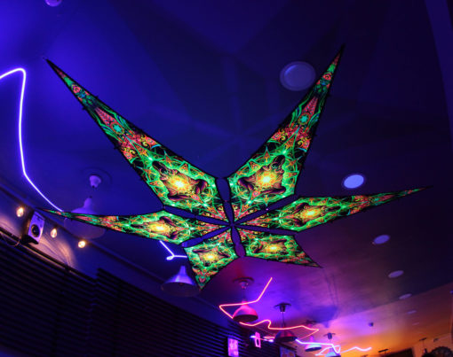 Adept - Psychedelic UV-Reactive Ceiling Decoration Canopy 6 Petals