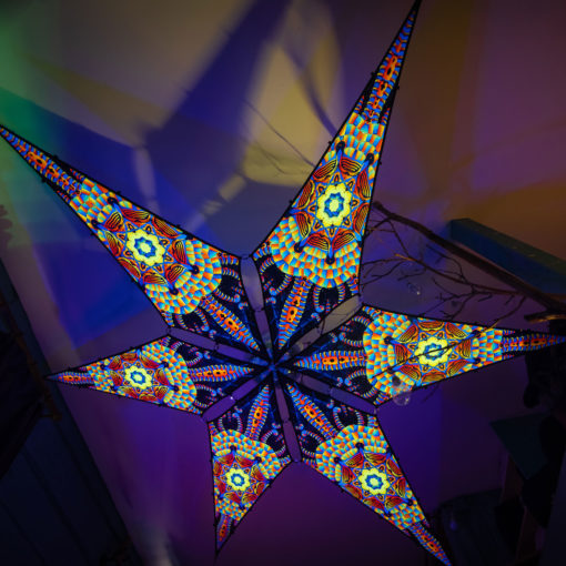 Radiance - Psychedelic UV-Reactive Ceiling Decoration Canopy 6 Petals