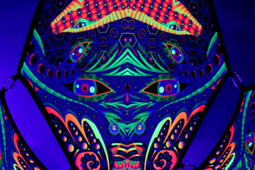 Snakes - Psychedelic UV-Reactive Ceiling Decoration Canopy 6 Petals