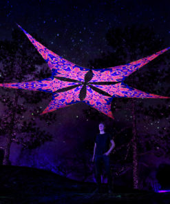 Two Stars - Psychedelic UV-Reactive Ceiling Decoration Canopy - 6 Petals Set