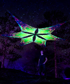 Trippy Alien - UV-Reactive Canopy Ceiling Decoration - 6 Petals