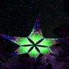 Trippy Alien - UV-Reactive Canopy Ceiling Decoration - 6 Petals