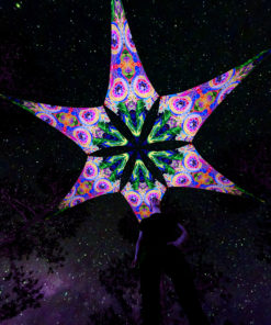 Mind Tunnel - Psychedelic UV-Reactive Ceiling Decoration Canopy 6 Petals