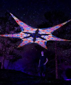 Psychic Vajra - Psychedelic UV-Reactive Ceiling Decoration Canopy 6 Petals