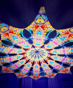 Barong Psychedelic UV-Reactive Canopy - 12 petals set - Psychic Vajra