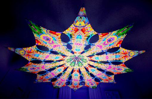 Barong Psychedelic UV-Reactive Canopy - 12 petals set - Psychic Vajra & DMT-Fish
