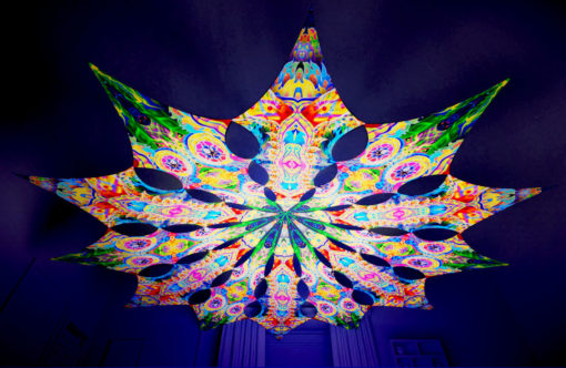 Barong Psychedelic UV-Reactive Canopy - 12 petals set - Psychic Vajra & Mind Tunnel