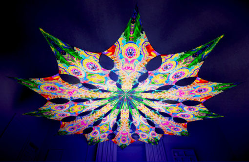 Barong Psychedelic UV-Reactive Canopy - 12 petals set - DMT-Fish & Mind Tunnel