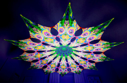 Barong Psychedelic UV-Reactive Canopy - 12 petals set - Mind Tunnel