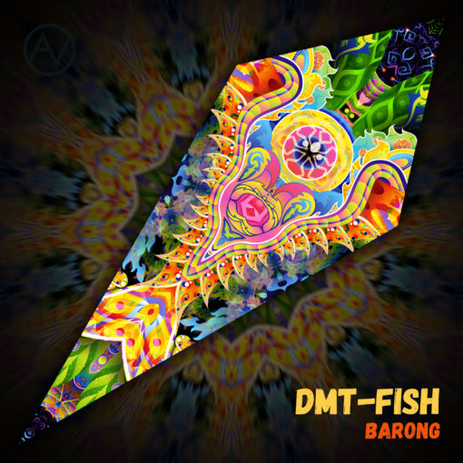 "Barong - Psychedelic UV-Reactive Canopy - Petal Design - ""DMT-Fish"""