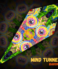 "Barong - Psychedelic UV-Reactive Canopy - Petal Design - ""Mind Tunnel"""