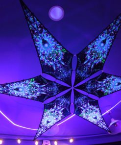 Blue Adept - Psychedelic UV-Reactive Ceiling Decoration Canopy 6 Petals