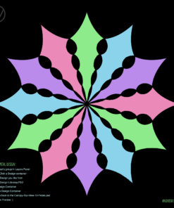 UV-Canopy Layout Preview Generator - 4 Designs x3 Petals