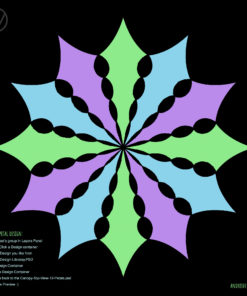 UV-Canopy Layout Preview Generator - 3 Designs x4 Petals