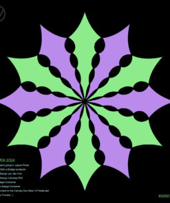 UV-Canopy Layout Preview Generator - 2 Designs x6 Petals