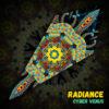 "Cyber Venus - Psychedelic UV-Reactive Canopy - Petal Design - ""Radiance"""