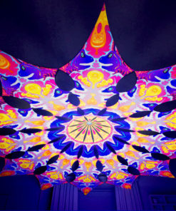 Lord Ganesha Psychedelic UV-Reactive Canopy - 12 petals set - Electric Madness