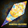 "Lord Ganesha - Psychedelic UV-Reactive Canopy - Petal Design - ""Ganesha Blessing"""