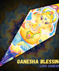 Lord Ganesha - Psychedelic UV-Reactive Canopy - Petal Design -