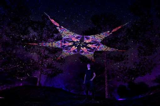 Union - Psychedelic UV-Reactive Ceiling Decoration Canopy 6 Petals