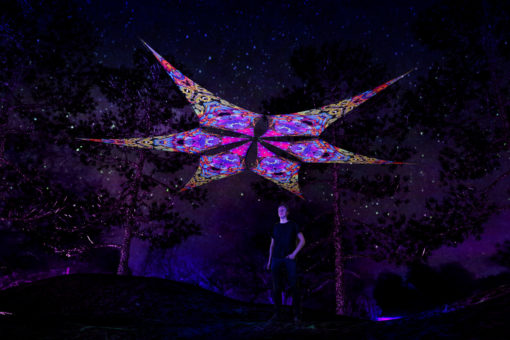 Monkeys - Psychedelic UV-Reactive Ceiling Decoration Canopy 6 Petals