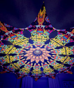 Lord Hanuman Psychedelic UV-Reactive Canopy - 12 petals set - Union
