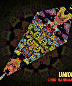"Lord Hanuman - Psychedelic UV-Reactive Canopy - Petal Design - ""Union"""