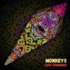 "Lord Hanuman - Psychedelic UV-Reactive Canopy - Petal Design - ""Monkeys"""