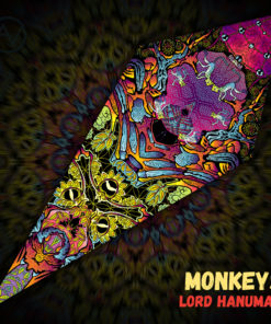 "Lord Hanuman - Psychedelic UV-Reactive Canopy - Petal Design - ""Monkeys"""
