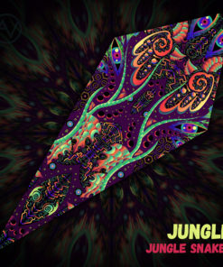 "Jungle Snakes - Psychedelic UV-Reactive Canopy - Petal Design - ""Jungle"""