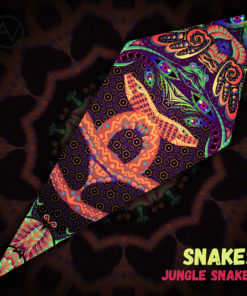 "Jungle Snakes - Psychedelic UV-Reactive Canopy - Petal Design - ""Snakes"""