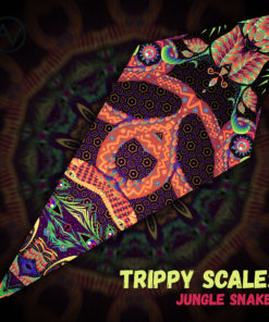 "Jungle Snakes - Psychedelic UV-Reactive Canopy - Petal Design - ""Trippy Scales"""