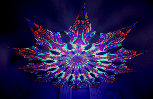 Jungle Snakes Psychedelic UV-Reactive Canopy - 12 petals set - Jungle