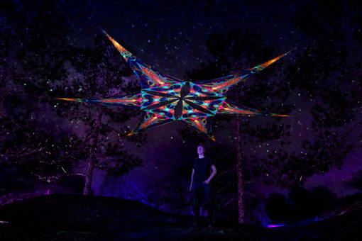 Leaf - Psychedelic UV-Reactive Ceiling Decoration Canopy 6 Petals
