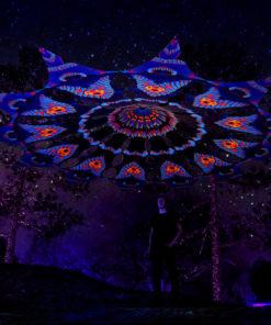 Cyber Venus Psychedelic UV-Reactive Canopy - 12 petals set - Blip-Blop