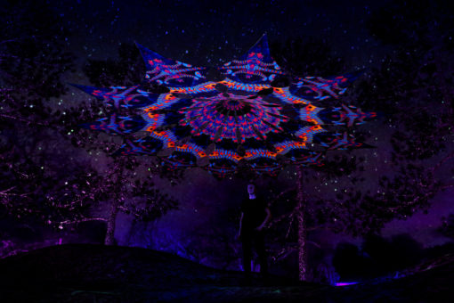 Cyber Venus Psychedelic UV-Reactive Canopy - 12 petals set - Spine