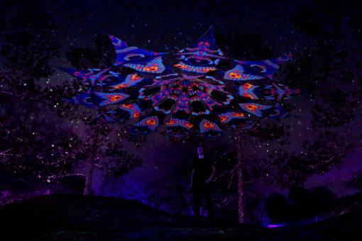 Cyber Venus Psychedelic UV-Reactive Canopy - 12 petals set - Blip-Blop & Spine