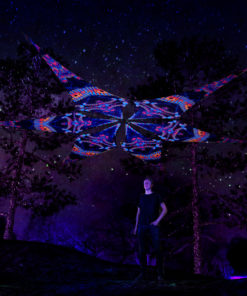 Spine - Psychedelic UV-Reactive Ceiling Decoration Canopy 6 Petals