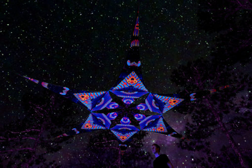 Blip-Blop - Psychedelic UV-Reactive Ceiling Decoration Canopy 6 Petals