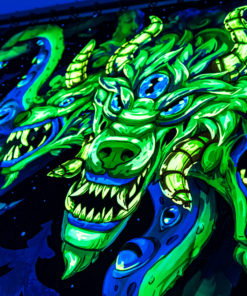 Shub-Niggurath - Psychedelic Fluorescent UV-Reactive Backdrop Tapestry Blacklight Wall Hanging - Details