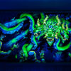 Shub-Niggurath - Psychedelic Fluorescent UV-Reactive Backdrop Tapestry Blacklight Wall Hanging