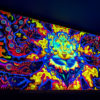 Lord Ganesh and Electric Eels Psychedelic Fluorescent UV-Reactive Backdrop Tapestry Blacklight Wall Hanging