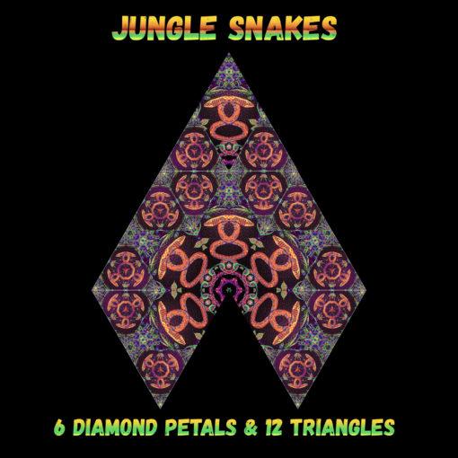 Jungle Snakes - Diamonds&Triangles - Layout #2