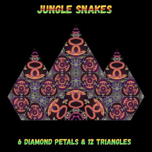 Jungle Snakes - Diamonds&Triangles - Layout #1