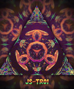 Jungle Snakes - Triangle Design - TR01 - UV-Print on Stretchable Lycra
