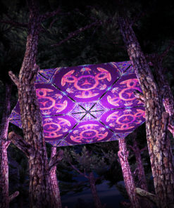 Jungle Snakes UV-Triangles - TR01 - 6 Pieces - UV-Reactive Psychedelic Party Decoration - 3D Preview